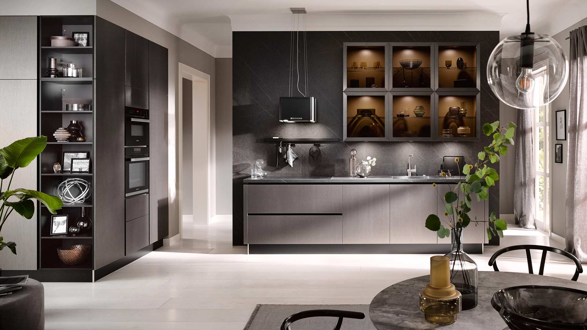 Küchentrends 2020 Häcker Metallic Optik und Haptik im Miele Center Pellet