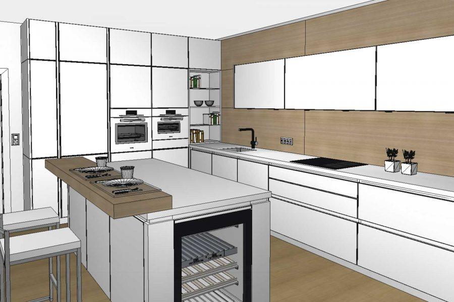 3D-Küchenplanung im Miele Center Pellet