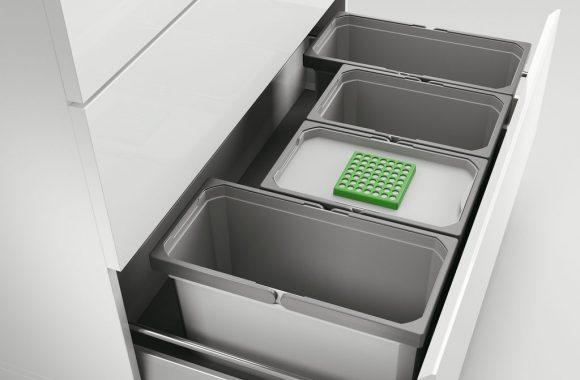 Naber Abfallsystem Cox Box 235 S/900-4 Bio zur Montage auf vorhandene Auszüge