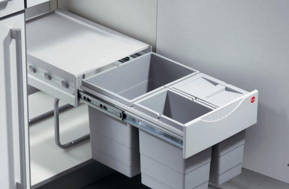 Naber Mülltrennung Tandem 5 mit Verschlussdeckel für Bio-Abfall