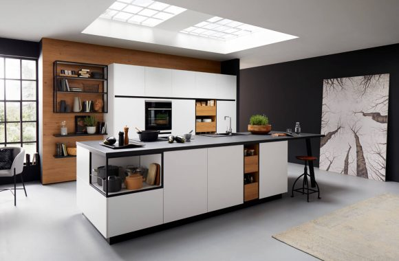 neola Küche mit Kuecheninsel beim Miele Center Pellet in Wien